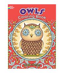 creative haven owls coloring book joann