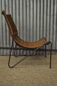 Wrought Iron Lounge Chair Patio Vintage Mid Century Modern Frederick Weinberg Wrought Iron