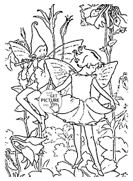 flower fairies columbine coloring page for kids for girls