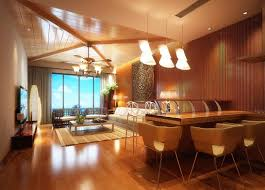 southeast asian style interior design view 3d house