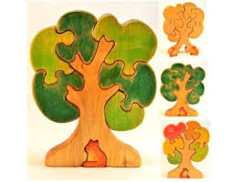 wooden tree puzzle etsy
