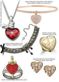 necklace bracelet earring ring images Valentine 39 s day heart shaped jewellery fashion jpg