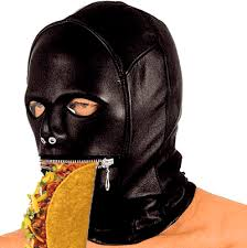 leather mask wearing a leather mask a taco album on imgur