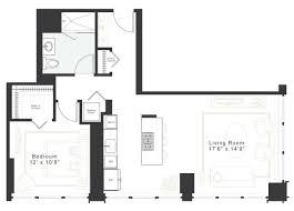 apartment floor plans 1 bedroom luxury 1 bedroom 1 bath apt for rent in west loop