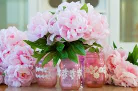 jar vases s day diy pink jar vases shelterness