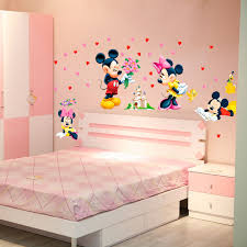 bedroom wall stickers cartoon mickey minnie mouse baby home decals wall stickers for kids