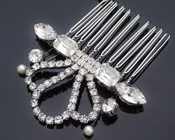 vintage comb original handmade pearl vintage style comb cezanne