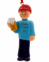 drinker or 21st birthday personalized ornament