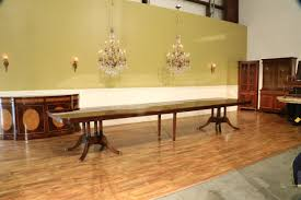 Leighton Dining Room Set Extra Large 16 Foot Triple Pedestal Mahogany Dining Table