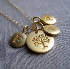 personalized family necklace personalized family tree necklace gold family initial necklace