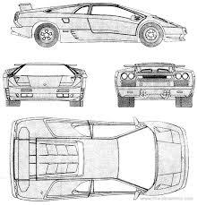 lamborghini diablo drawing the blueprints com blueprints cars lamborghini lamborghini