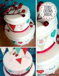 christmas cake bunting edible gift shop personalised gift