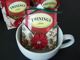 christmas tea party favors this listing is for a set of 12 teabag holder party favors in
