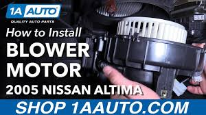 nissan altima 2005 dash parts how to install replace heater blower motor 2005 06 nissan altima