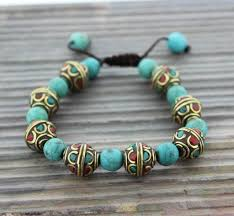 turquoise bead bracelet images Traditional tibetan turquoise bead bracelet thedharmashop jpeg
