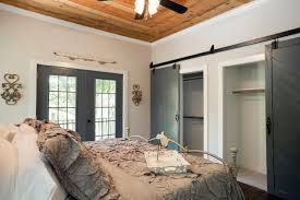 bedroom dazzling track sliding doors interior grey wooden barn