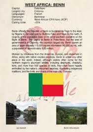 Benin Flag Country Description Benin