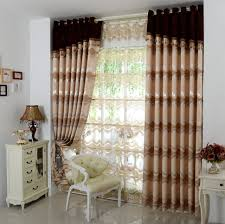 Grommet Drapes Curtains And Drapes Brown Decorative Grommet Curtain Inner Sheer
