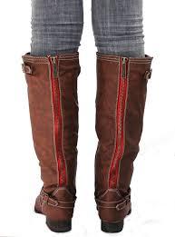 womens boots zipper back womens bo81 zipper buckle knee high boots usa