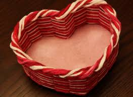 heart shaped items s day craft make a heart shaped yarn basket to hold the