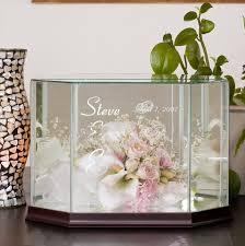 wedding flowers keepsake laser engraved glass wedding bouquet cases
