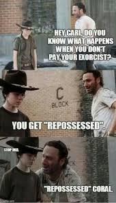 Hey Carl Meme - walking dead meme coral meme coral memes walking dead coral