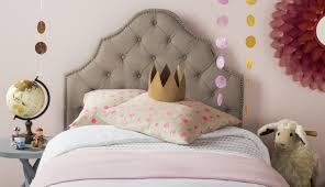 Kids Fabric Headboard by Arebelle Taupe Tufted Headboard Headboards Furniture By Safavieh