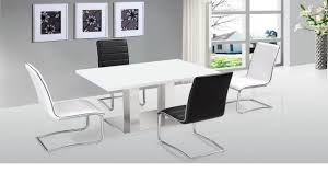 white high gloss table white gloss dining table and grey chairs jet high hygena cream