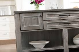 paint or stain kitchen cabinets weathered gray kitchen cabinetry finishes both painted and