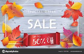 thanksgiving sale autumn vector illustration fall sales season