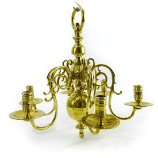 Swedish Chandelier Swedish Brass 6 Arm Chandelier