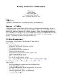 cna resume examples resume example and free resume maker