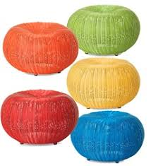 small outdoor wicker ottoman pouf 19