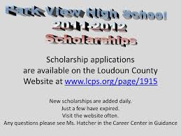 scholarship applications are available on the loudoun county ppt