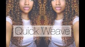 weave no leave out hairstyle brazillian quick glue in weave with no leave out youtube