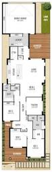 house plans for narrow lot apartments narrow one story house plans narrow lot house plans