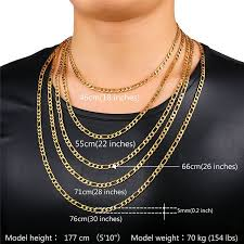 necklace figaro images Men 39 s stainless steel italian solid figaro chain jpg