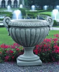 Stone Urn Planter by Acanthus Urn Planter 23 5