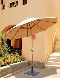 Tilting Patio Umbrella by Galtech 9 U0027 Teak Wood Rotational Tilt Patio Umbrella With Sunbrella