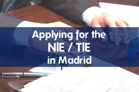 applying for a nie tie in madrid