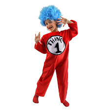 Baby Monster Halloween Costumes by Dr Seuss The Cat In The Hat Thing 1 Or Thing 2 Child Costume