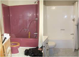 Before And After Bathrooms Bathroom Reglazing Before And After Best Bathroom Decoration