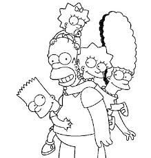 the naughty bart simpson in the simpsons coloring page the