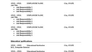 Free Templates For Resume Print A Free Resume Resume Template And Professional Resume