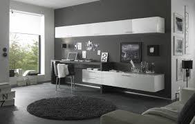 bureau moderne design aménagement bureau moderne peinture murale gris anthracite