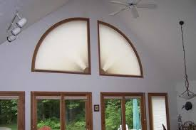 Arch Window Blinds That Open And Close Cellular Honeycomb Movable Arch Shades Buyhomeblinds Com