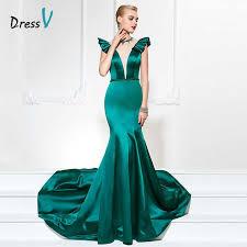 online get cheap dark green dresses mermaid aliexpress com