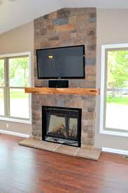 tv console fireplace mantel with electric insert above ideas