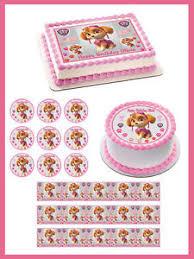 paw patrol skye 4 edible birthday cake topper cupcake topper