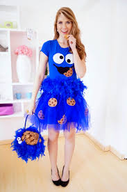 Halloween Monster Costume by The Joy Of Fashion Halloween Cute Homemade Cookie Monster Costume